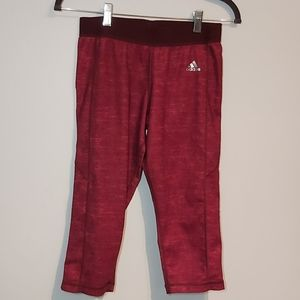 Adidas red compression Capri legging